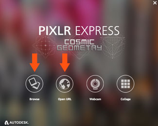 Pixlr Express > browse or open URL