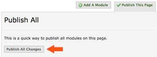 publish all changes in eportfolio