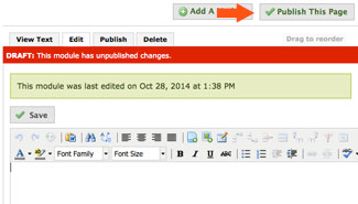 publish entire page in eportfolio