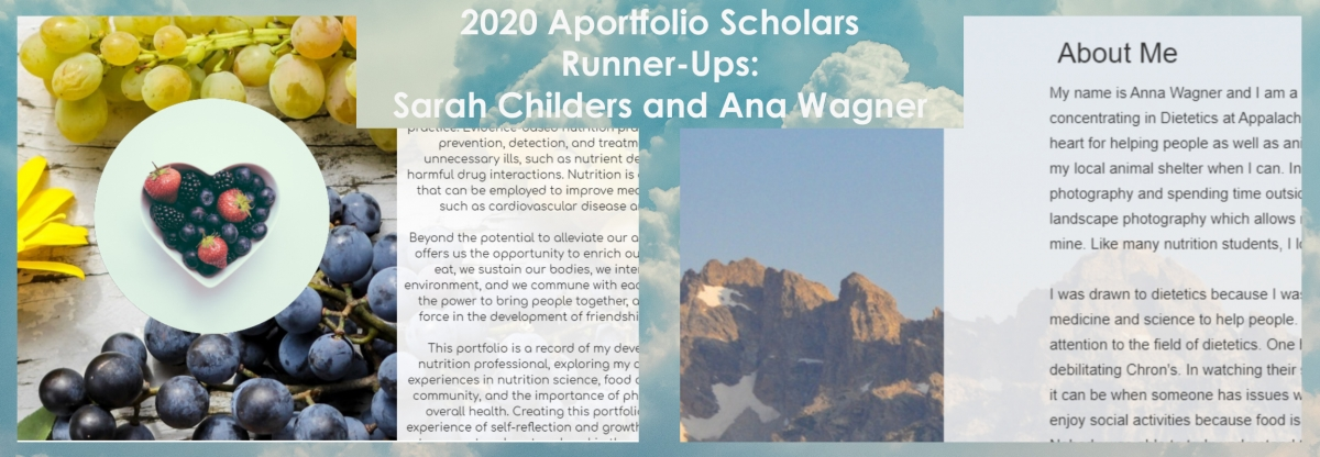 Aportfolio 2020 Runner Ups Sarah CHilders and Anna Wagner